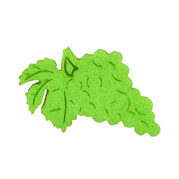 Деко фигурка грозде, Filz, тревно зелено