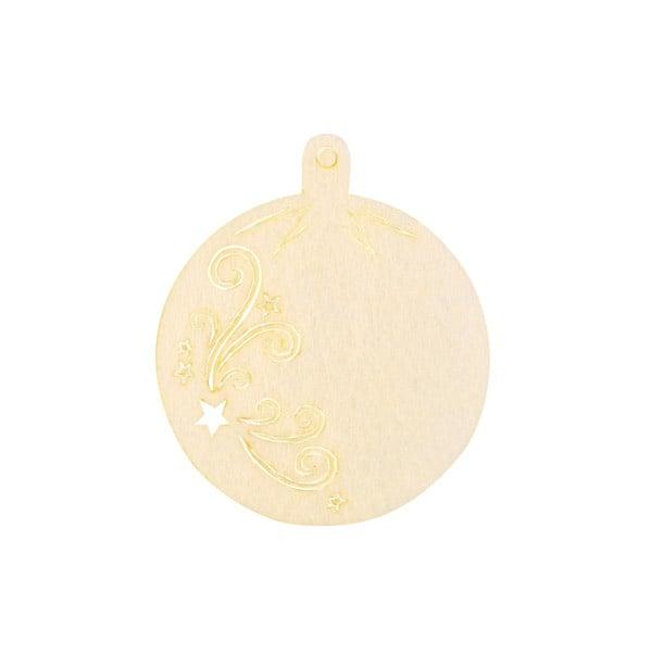 Деко фигурка коледна топка, Filz, 80 mm, кремава