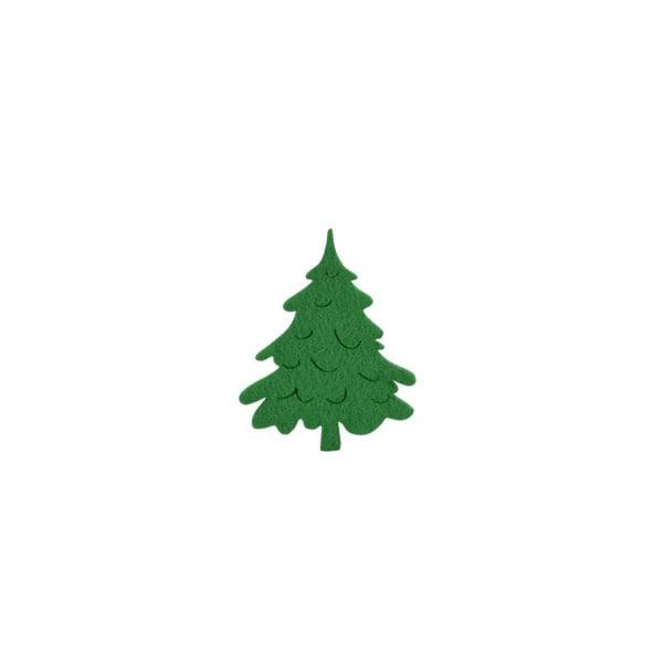 Деко фигурка коледно дръвче, Filz, 30 mm, тъмно зелена