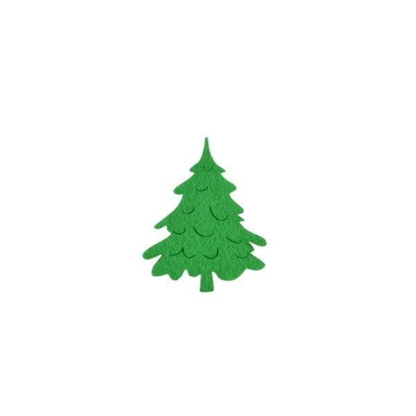 Деко фигурка коледно дръвче, Filz, 40 mm, светло зелена