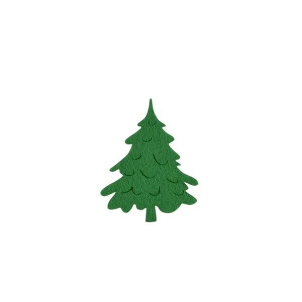 Деко фигурка коледно дръвче, Filz, 40 mm, тъмно зелена