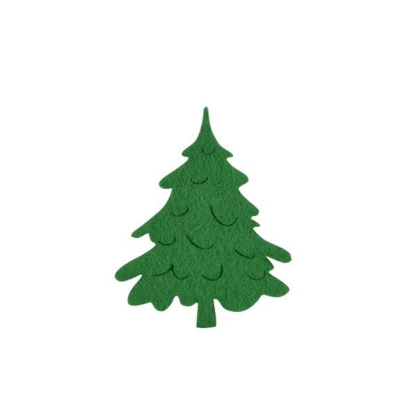 Деко фигурка коледно дръвче, Filz, 80 mm, тъмно зелена