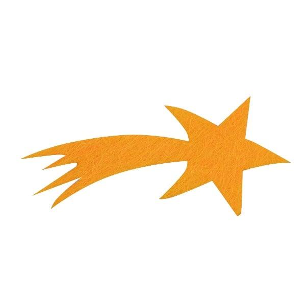 Деко фигурка комета, Filz, 50 mm, жълта