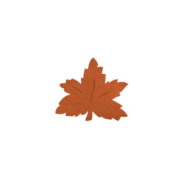 Деко фигурка лозов лист, Filz, 30 mm, светло кафяв