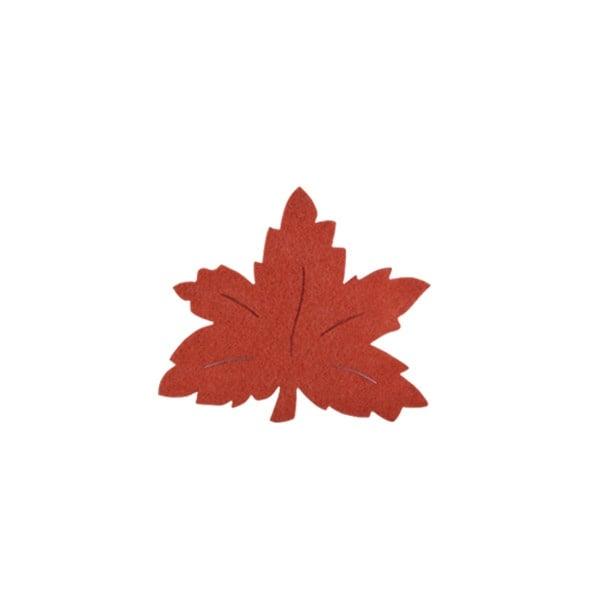 Деко фигурка лозов лист, Filz, 40 mm, кафяв