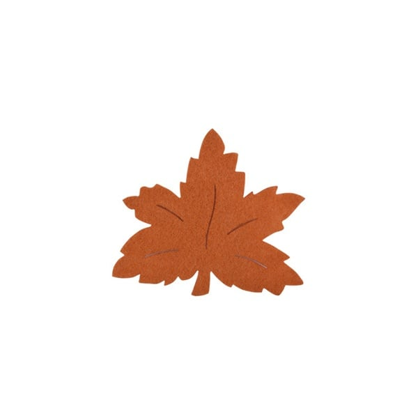 Деко фигурка лозов лист, Filz, 40 mm, светло кафяв