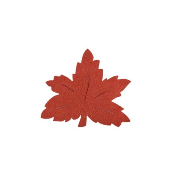 Деко фигурка лозов лист, Filz, 50 mm, кафяв