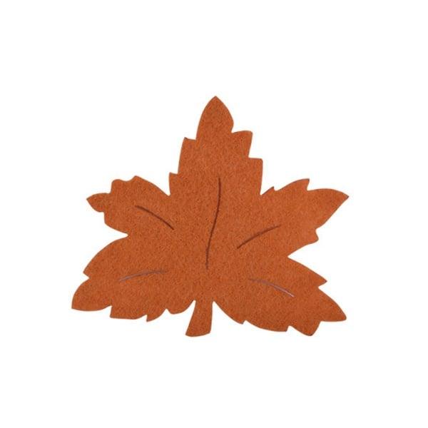 Деко фигурка лозов лист, Filz, 90 mm, светло кафяв