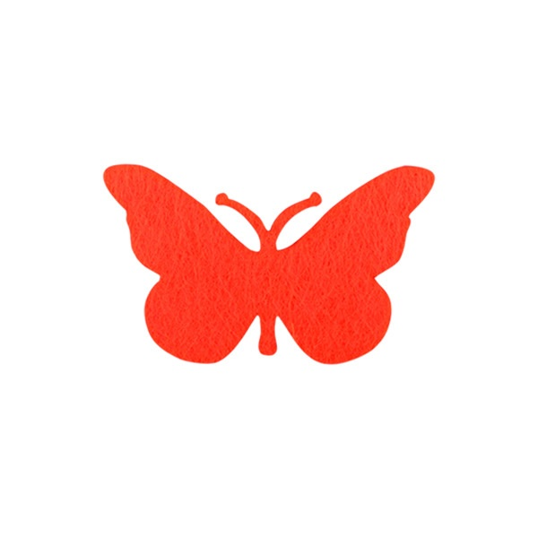 Деко фигурка пеперуда от филц  Деко фигурка пеперуда, Filz, 40 mm, червена