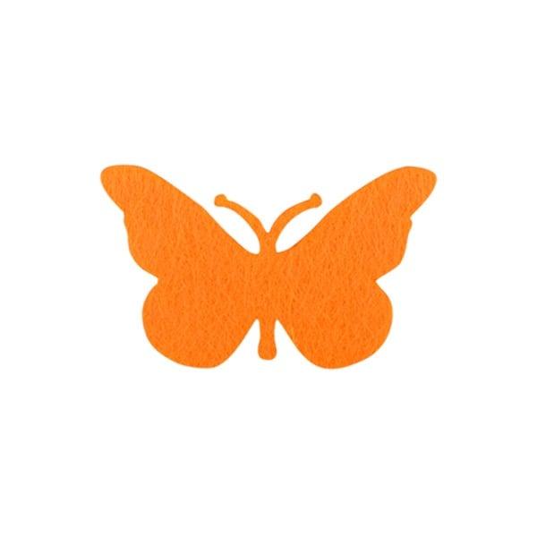 Деко фигурка пеперуда от филц  Деко фигурка пеперуда, Filz, 40 mm, жълта