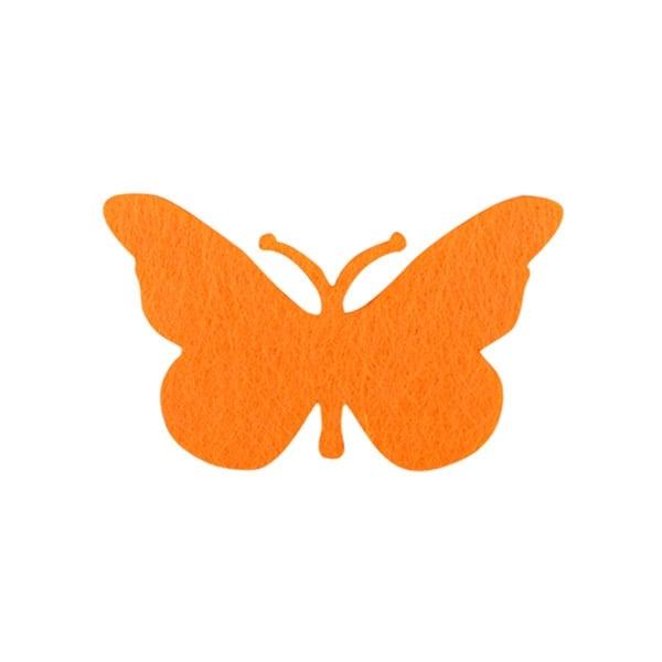 Деко фигурка пеперуда от филц  Деко фигурка пеперуда, Filz, 50 mm, жълта
