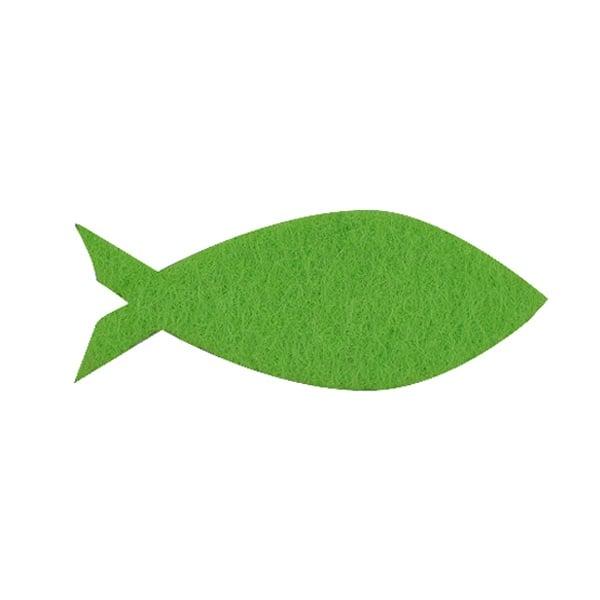 Деко фигурка рибка, Filz, 45 mm, тревно зелена