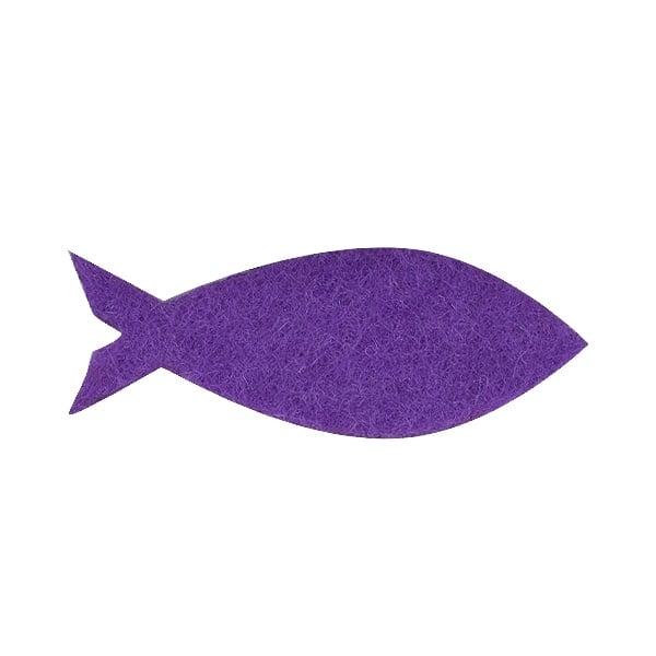 Деко фигурка рибка, Filz, 45 mm, виолетова