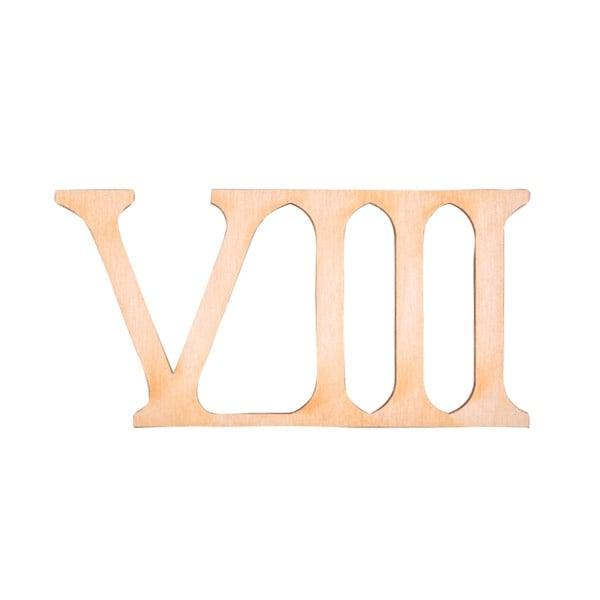"""Деко фигурка римска цифра """"VIII"""", дърво, 19 mm"""