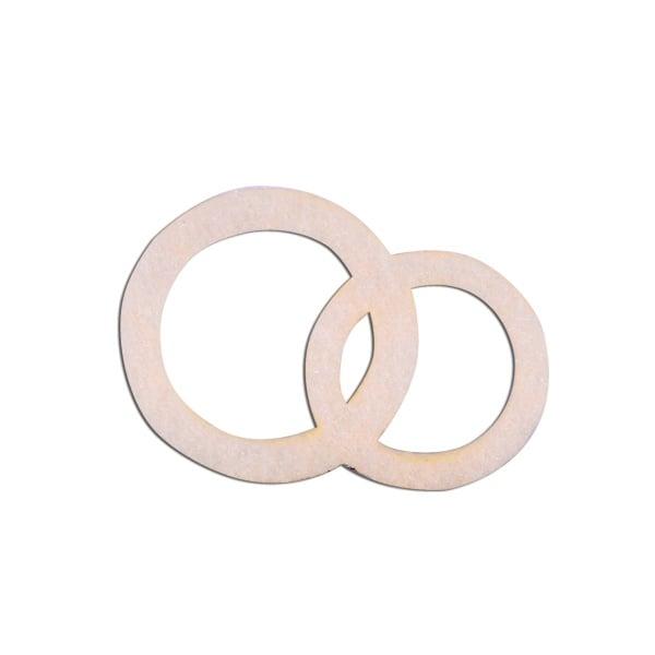 Деко фигурка венчални халки, Filz, 20 mm, кремави
