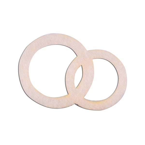 Деко фигурка венчални халки, Filz, 30 mm, кремави