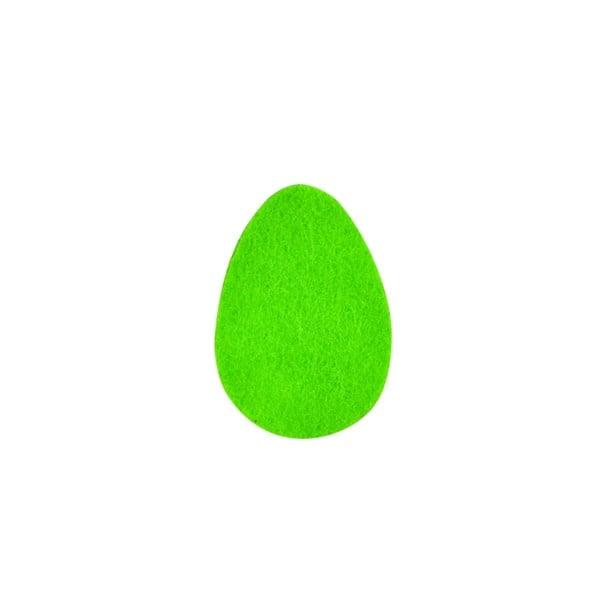 Деко фигурка яйце, Filz, 25 mm, тревно зелено
