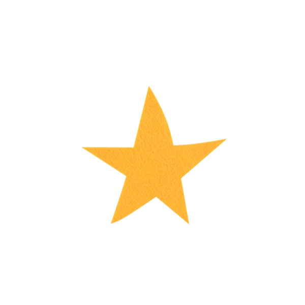 Деко фигурка звезда, Filz, 40 mm, светло жълта
