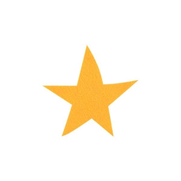 Деко фигурка звезда, Filz, 50 mm, светло жълта