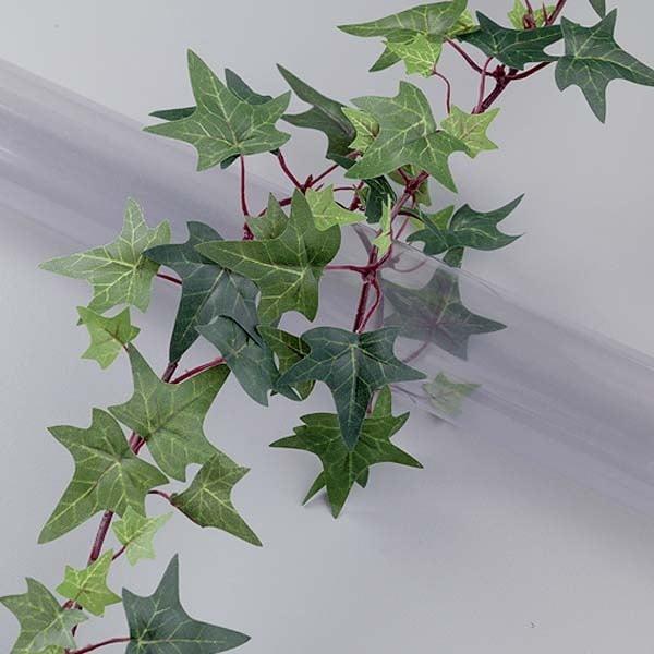 Алуминиево фолио, 20 х 30 см / 0,15 мм, 3 бр., двуцветно - червено и сребристо Декоративен гирлянд, бръшлян, Landhaus, 170 см, зелен