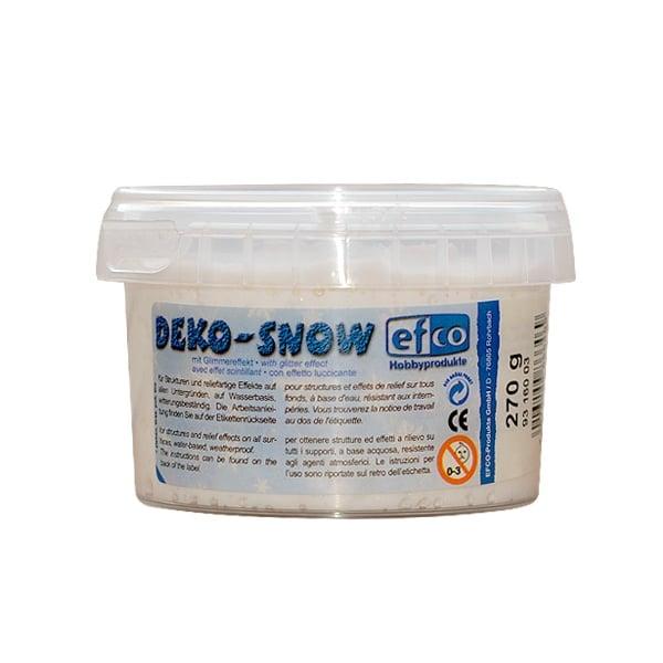Декоративен сняг с блестящ ефект, Deko-Snow, mit Glimmereffekt Декоративен сняг с блестящ ефект, Deko-Snow, mit Glimmereffekt, 270 g
