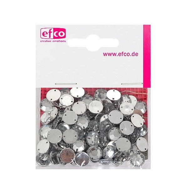 Декоративни камъчета, Acryl facettiert, два отвора, 10 mm, 100 бр.
