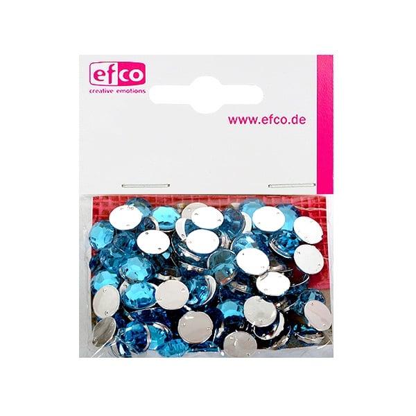 Декоративни камъчета, Acryl facettiert, два отвора, 10 mm, 100 бр. Декоративни камъчета, Acryl facettiert, два отвора, 10 mm, 100 бр., лазурно синьо