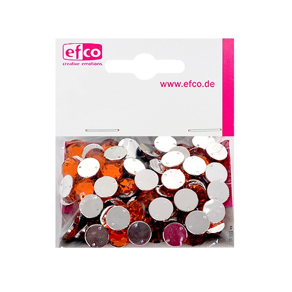 Декоративни камъчета, Acryl facettiert, два отвора, 10 mm, 100 бр. Декоративни камъчета, Acryl facettiert, два отвора, 10 mm, 100 бр., оранжеви