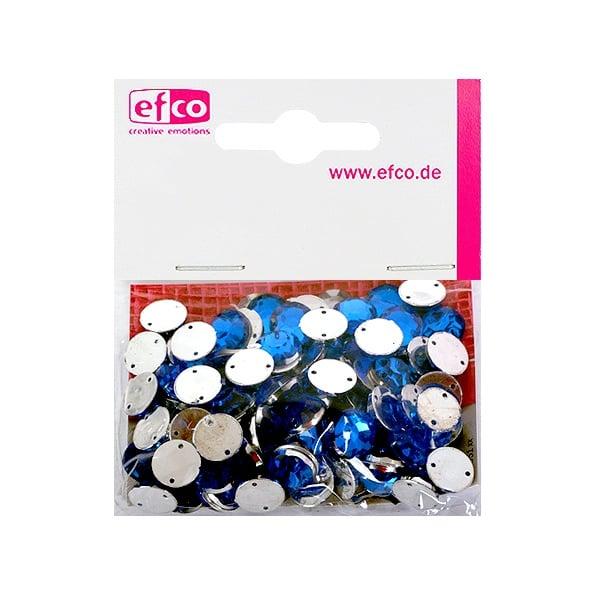 Декоративни камъчета, Acryl facettiert, два отвора, 10 mm, 100 бр. Декоративни камъчета, Acryl facettiert, два отвора, 10 mm, 100 бр., сини