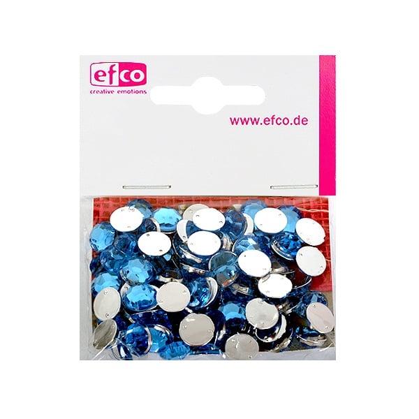 Декоративни камъчета, Acryl facettiert, два отвора, 10 mm, 100 бр. Декоративни камъчета, Acryl facettiert, два отвора, 10 mm, 100 бр., светло синьо