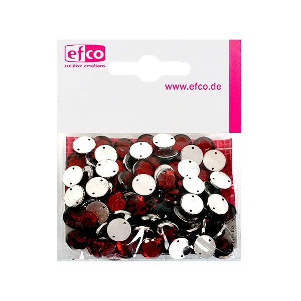 Декоративни камъчета, Acryl facettiert, два отвора, 10 mm, 100 бр. Декоративни камъчета, Acryl facettiert, два отвора, 10 mm, 100 бр., тъмно червени