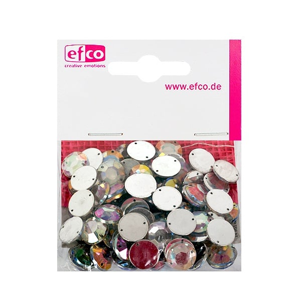 Декоративни камъчета, Acryl facettiert, два отвора, 12 mm, 75 бр. Декоративни камъчета, Acryl facettiert, два отвора, 12 mm, 75 бр., холограмни