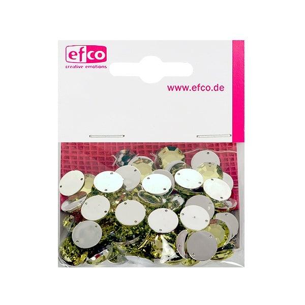 Декоративни камъчета, Acryl facettiert, два отвора, 12 mm, 75 бр. Декоративни камъчета, Acryl facettiert, два отвора, 12 mm, 75 бр., жълти
