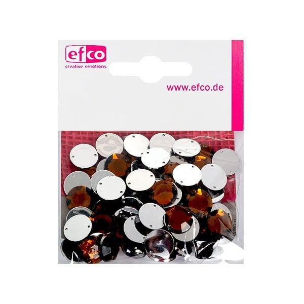 Декоративни камъчета, Acryl facettiert, два отвора, 12 mm, 75 бр. Декоративни камъчета, Acryl facettiert, два отвора, 12 mm, 75 бр., кафеви