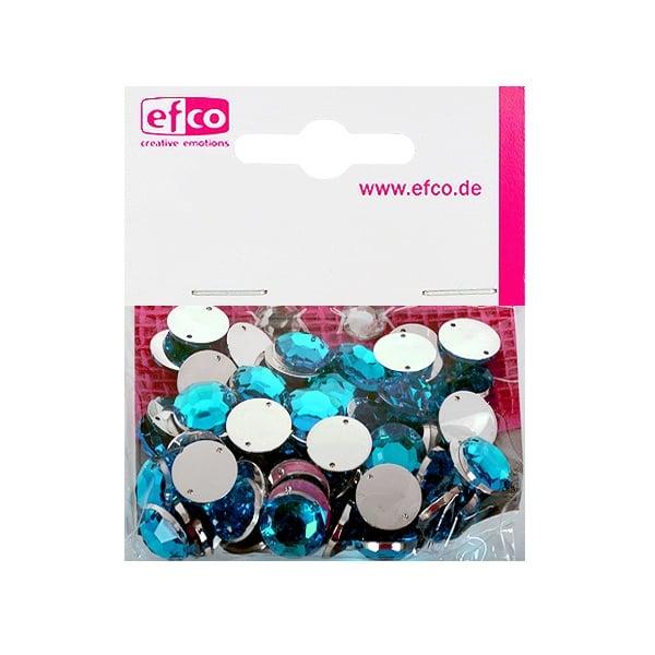 Декоративни камъчета, Acryl facettiert, два отвора, 12 mm, 75 бр. Декоративни камъчета, Acryl facettiert, два отвора, 12 mm, 75 бр., лазурно синьо