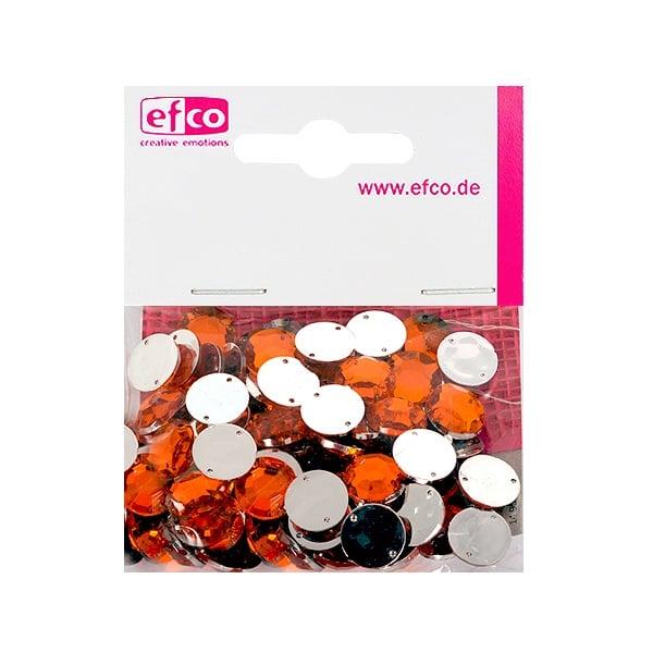 Декоративни камъчета, Acryl facettiert, два отвора, 12 mm, 75 бр. Декоративни камъчета, Acryl facettiert, два отвора, 12 mm, 75 бр., оранжеви