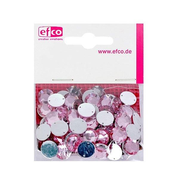 Декоративни камъчета, Acryl facettiert, два отвора, 12 mm, 75 бр. Декоративни камъчета, Acryl facettiert, два отвора, 12 mm, 75 бр., роза