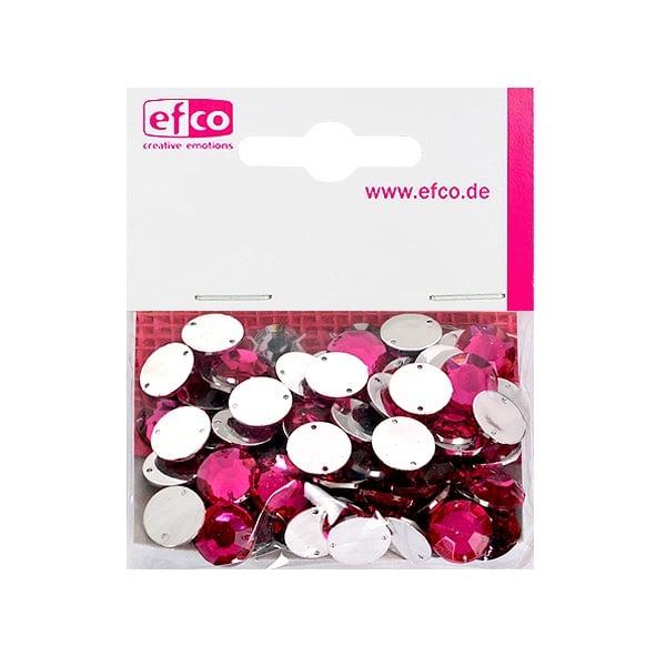 Декоративни камъчета, Acryl facettiert, два отвора, 12 mm, 75 бр. Декоративни камъчета, Acryl facettiert, два отвора, 12 mm, 75 бр., розови