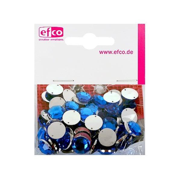 Декоративни камъчета, Acryl facettiert, два отвора, 12 mm, 75 бр. Декоративни камъчета, Acryl facettiert, два отвора, 12 mm, 75 бр., сини