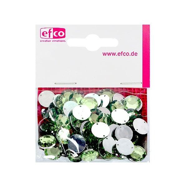 Декоративни камъчета, Acryl facettiert, два отвора, 12 mm, 75 бр. Декоративни камъчета, Acryl facettiert, два отвора, 12 mm, 75 бр., светло зелени