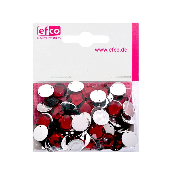Декоративни камъчета, Acryl facettiert, два отвора, 12 mm, 75 бр. Декоративни камъчета, Acryl facettiert, два отвора, 12 mm, 75 бр., тъмно червени