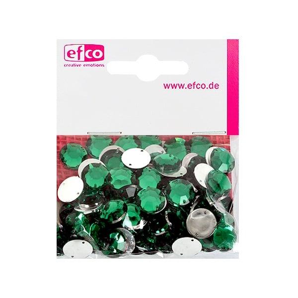 Декоративни камъчета, Acryl facettiert, два отвора, 12 mm, 75 бр. Декоративни камъчета, Acryl facettiert, два отвора, 12 mm, 75 бр., зелени