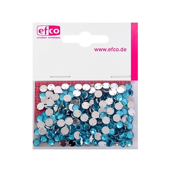 Декоративни камъчета, Acryl facettiert, два отвора, 6 mm, 250 бр. Декоративни камъчета, Acryl facettiert, два отвора, 6 mm, 250 бр., лазурно сини