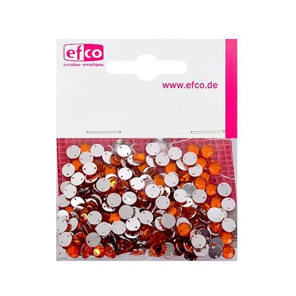 Декоративни камъчета, Acryl facettiert, два отвора, 6 mm, 250 бр. Декоративни  камъчета, Acryl facettiert, два отвора, 6 mm, 250 бр., оранжеви