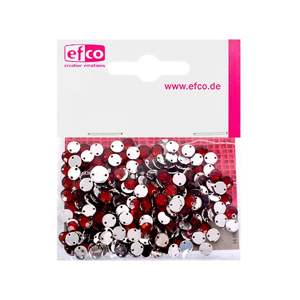 Декоративни камъчета, Acryl facettiert, два отвора, 6 mm, 250 бр. Декоративни  камъчета, Acryl facettiert, два отвора, 6 mm, 250 бр., тъмно червени