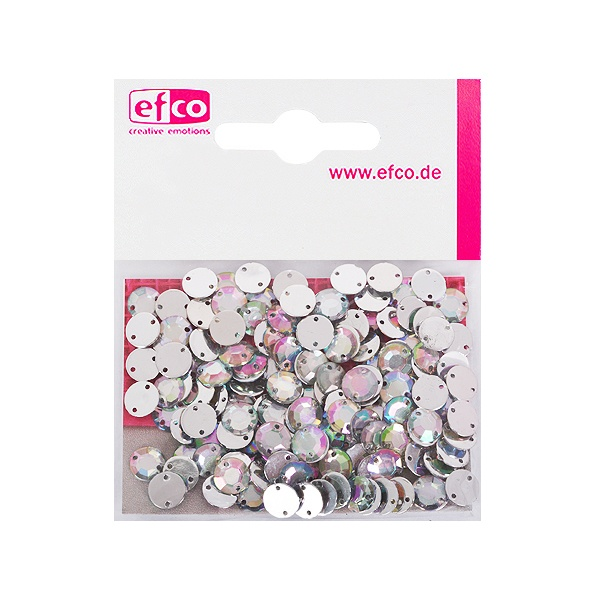 Декоративни камъчета, Acryl facettiert, два отвора, 8 mm, 150 бр. Декоративни камъчета, Acryl facettiert, два отвора, 8 mm, 150 бр., холограмни
