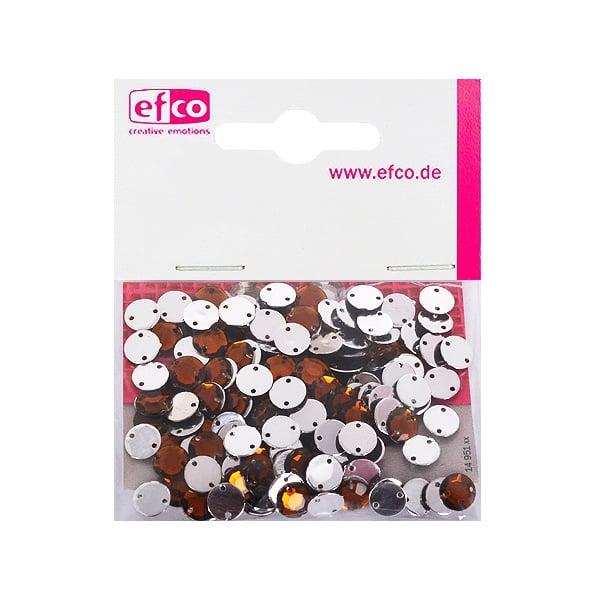 Декоративни камъчета, Acryl facettiert, два отвора, 8 mm, 150 бр. Декоративни камъчета, Acryl facettiert, два отвора, 8 mm, 150 бр., кафяви