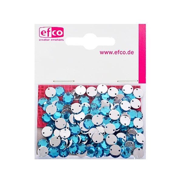 Декоративни камъчета, Acryl facettiert, два отвора, 8 mm, 150 бр. Декоративни камъчета, Acryl facettiert, два отвора, 8 mm, 150 бр., лазурно сини