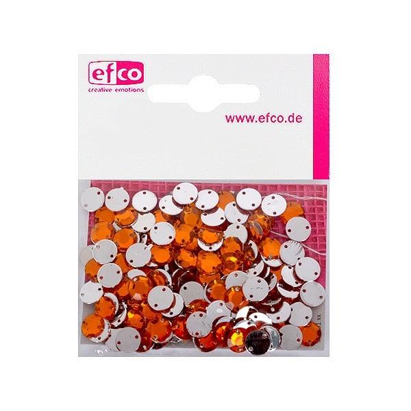 Декоративни камъчета, Acryl facettiert, два отвора, 8 mm, 150 бр. Декоративни камъчета, Acryl facettiert, два отвора, 8 mm, 150 бр., оранжеви