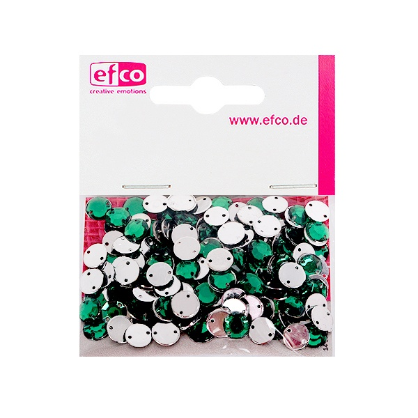 Декоративни камъчета, Acryl facettiert, два отвора, 8 mm, 150 бр. Декоративни камъчета, Acryl facettiert, два отвора, 8 mm, 150 бр., зелени